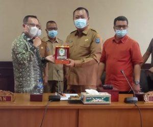 DPRD Kabupaten OKI Sambut Kunjungan Kerja  DPRD Kota Jambi